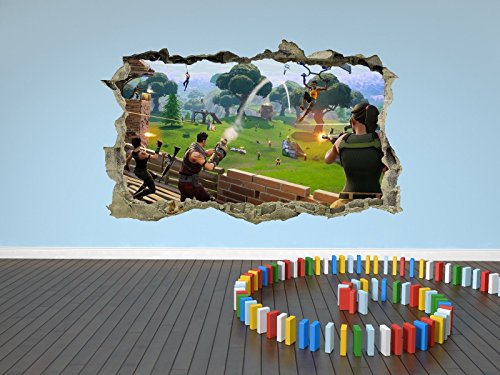 Fortnite Wall Sticker 3D Decal Wall Art