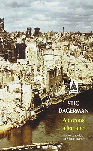 Automne allemand par Stig Dagerman