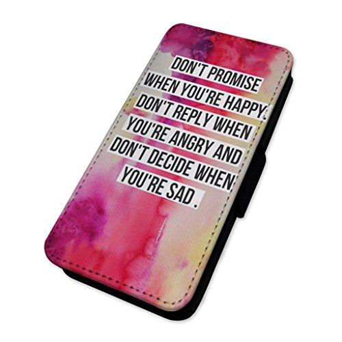 Bella Vita citazione–Flip cover in pelle copertura di carta Apple iPhone 5C