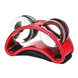 Alomejor Pied Tambourin Instrument de Musique Jingle Belt Métal Pied Percussion Pied Cloche Accessoires(Rouge)