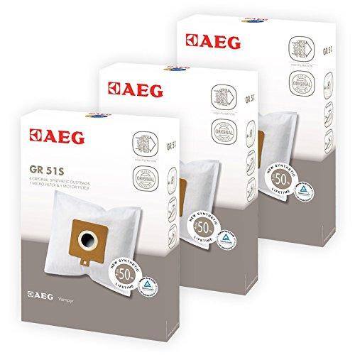 Original AEG 460485486467Staubsauger Reinigungstuch Taschen und Filter (12Tüten + 6Filter) (Tasche Pre-filter)