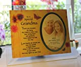 Best Il Nonni regalo Photo Frames - Inspirational Glass Poem photo Frame for a very Review
