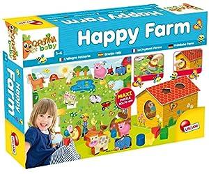 Lisciani Juegos 1ER Age - Carotina Baby - Happy Farm - Caja con Forma de 72248, 72248, Azul, Verde