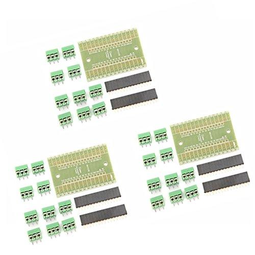 MagiDeal 3Sets Terminaladapter Expansionboard Erweiterungskarter DIY Kits Für Arduino NANO IO Shield V1.0