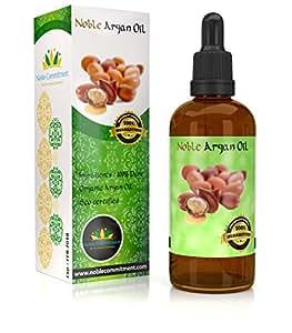 Noble Argan Oil. Pure Moroccan Organic Argan Oil for Hair Skin Nails.