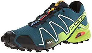 Salomon L37076200 Speedcross 3 Running Shoes, UK 12.5 (Cobalt Blue/Green)