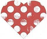 Herz Servietten Papierservietten LOVE EDITION rot mit weißen Punkten Räder