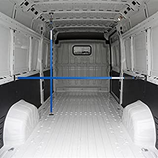 ALLEGRA Ladungssicherung für PKW LKW und Transporter, Sperrstange für Anhänger Klemmstange für die Tür, Ladesicherung für Auto Ausziehbar 4 Größen (1,00m - 1,75m, Blau)