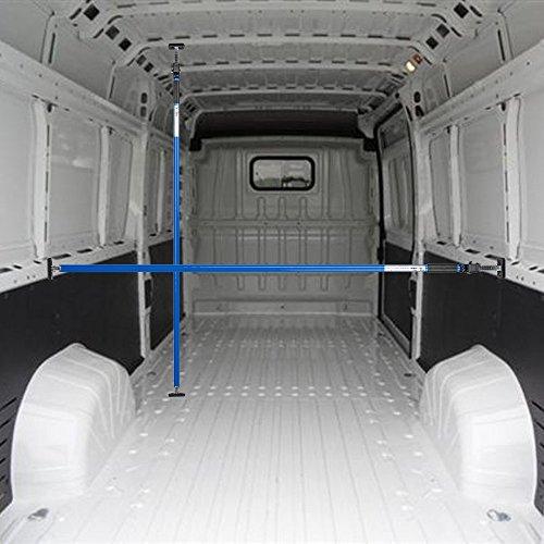Preisvergleich Produktbild ALLEGRA Ladungssicherung für PKW LKW und Transporter, Sperrstange für Anhänger Klemmstange für die Tür, Ladesicherung für Auto Ausziehbar 4 Größen (1,00m - 1,75m, Blau)