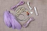 YIWAN Handmade Dream Catcher Wall decorationTeenage Heart Feather Traumfänger Sansei III Purple Material Pack