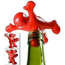 tapón de la botella de vino tapón de sellado omino fálica guisante Príapo Diseño ROJO