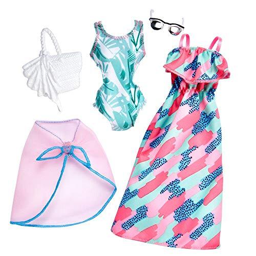 Mattel Strand Mode | 2 Trend Garderoben Set | Barbie FKT32 | Puppen-Kleidung (Barbie-sets Und Barbie-puppen)