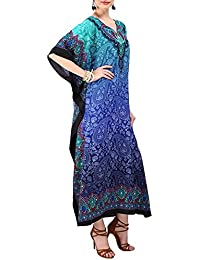 Miss Lavish London Frauen Damen Kaftan Tunika Kimono Freie Größe Lange Maxi Party Kleid für Loungewear Urlaub Nachtwäsche Strand Jeden Tag Kleider #103