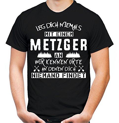 Leg dich niemals mit einem Metzger an T-Shirt | Bauer | Natur | Bio | Sprüche | Beruf | Job |...