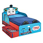 Thomas the Tank Engine Toddler Bed with Storage + Foam Mattress