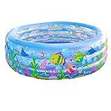 Ren Chang Jia Shi Pin Firm Aufblasbare Badewanne Kinder Badewanne Aufblasbarer Pool Erwachsene Badewanne Whirlpool Familie Pool Baby Badewanne (Color : Blue, Size : 185*50cm)