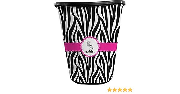 Zebra Waste Basket Black Personalized Amazon Co Uk Kitchen Home