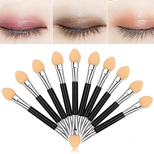 Cenlang Makeup Brushes Sets,10 Set Sponge Eyeshadow Makeup Brush,Makeup Double-End Eye Shadow Sponge Brushes Applicator Cosmetic Beauty Tool,Sided Eyeshadow Brush Sponge Tipped Oval Makeup Applicator