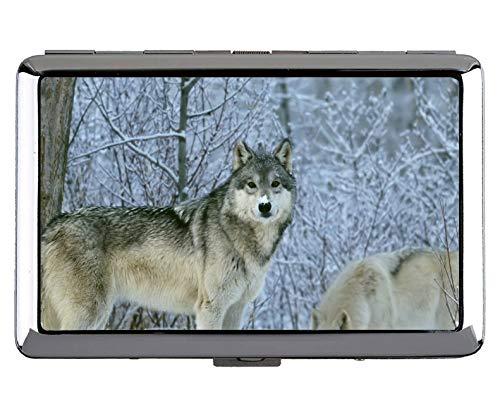 Kreativer Aufbewahrungskoffer, Animal Wolf Women Name Card Holder (Wolf Lady Kostüm)