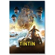 Póster: las aventuras de Tintín película uno hoja barco moto nieve Capitán Haddock Thomson Thompson (A1Maxi–61x 91,5cm/24x 36in, semi-gloss papel satinado)