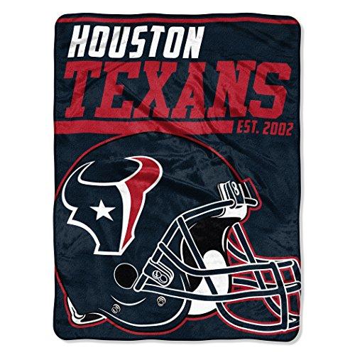 The Northwest Company NFL Houston Texans 40-Yard Dash Micro Raschel Überwurf Plüschdecke 117 x 152 cm , Deep Steel Blue