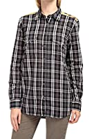 0039 Italy Damen Bluse Hemdbluse ODETTE POCKET 3, Farbe: Schwarz