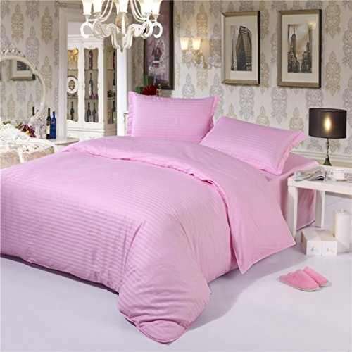 Bettwäsche-Sets Full Size Tröster Set QueenKing Größe Kissenbezüge Rosa Erwachsene Bettbezug Bettlaken Set 4 PCS (größe : Super king)
