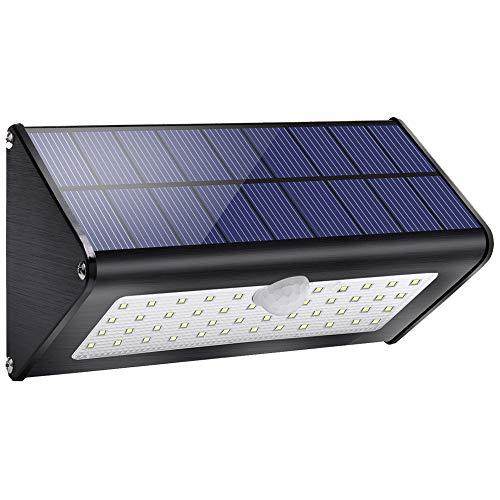 Licwshi Solar Gartenleuchte 1100lm 4500mAh Solarlampen für Außen mit Infrarot Bewegungsmelder Wasserdicht IP65, 4 intelligenten Modi für Garten, Tor, Wand, Weißes Licht