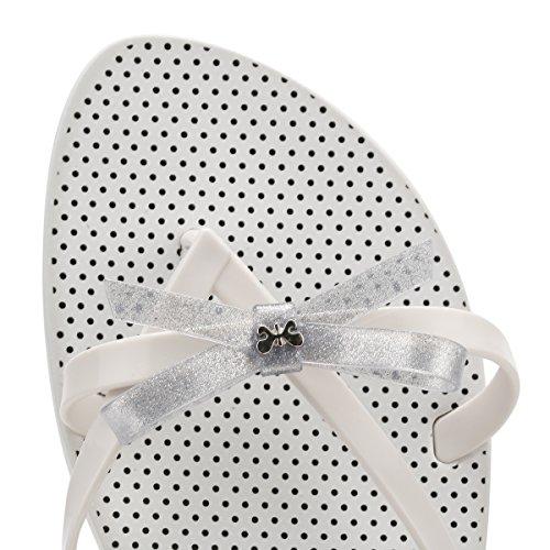 Zaxy Donna Bianco Glitter Fresh Bow Infradito Bianco Glitter