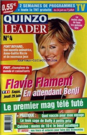 QUINZO LEADER [No 4] - FORT BOYARD - ANNE-GAELLE RICCIO - FOOT - FLAVIE FLAMENT - QUEL VACCCIN POUR MON VOYAGE - CUISINE.
