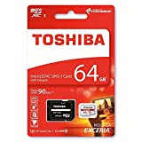 #4: Toshiba Exceria M302 64GB Micro SDXC Memory Card 90 MB/s 4K - Recommended for Action Cameras, GoPRO Hero 4 & Hero 5