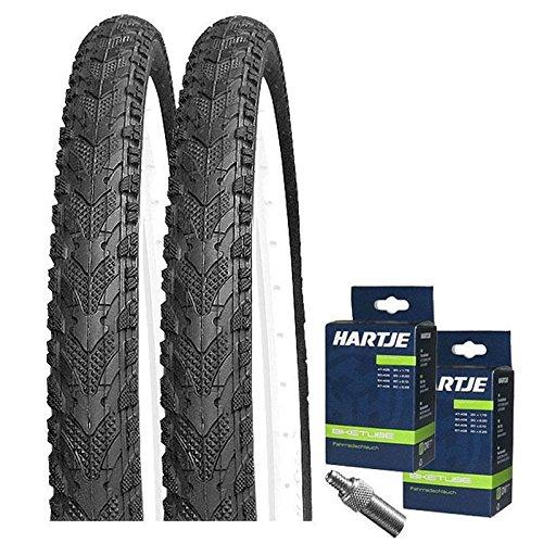 KENDA Set: 2 x K948 Fahrrad Reifen 50-507/24x1.95 + SCHLÄUCHE Blitzventil/24 Decke