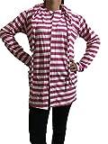 #4: FetchIt Girls Summer Coat Sun Coat red stripped