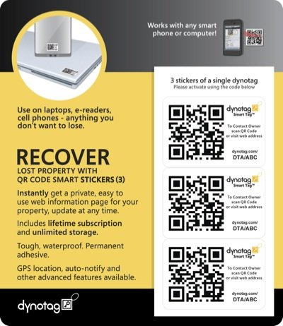 dynotag-internet-enabled-qr-code-smart-tags-super-tough-ready-to-use-3-sticker-set