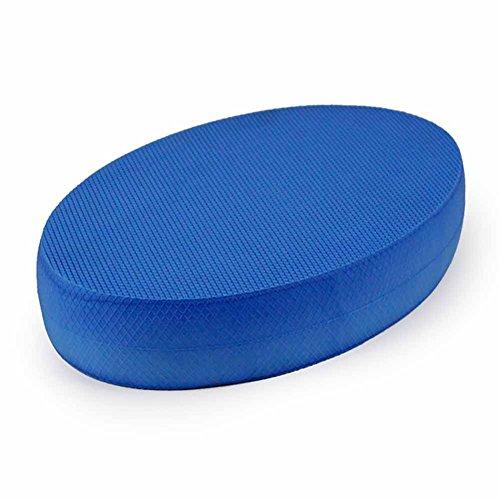Ovale Schaumstoff-Balance-Pads, stabiles Fitness-Übungskissen, tragbares Gymnastik-Trainer-Board, rutschfest, Balance Trainer, perfekt für Physiotherapie, Pilates, Krafttraining, blau