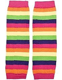 Fulltime® 2016 1 paire Baby Girl arc-en-Knee Pad Chaussettes Leg Warmer