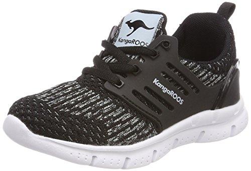 KangaROOS Unisex-Kinder Draga Kids Sneaker, Schwarz (Jet Black/Vapor Grey), 31 EU