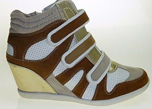 Marco Tozzi 25300-20 Sneaker synthétique cuir Marron / Blanc