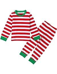 52d192fd7 Bebone Ninos Ninas Conjunto de Pijamas de Navidad Santa Claus Camiseta  Manga Larga y Pantalones Largas