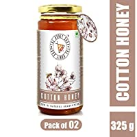 THE HONEY SHOP® Cotton Honey, Rare Honey Collected by Bees from Cotton Blossom (325 gm) - Pack of 2