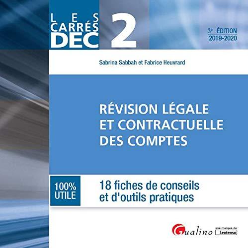 Révision légale et contractuelle des comptes DEC 2 par  Sabrina Sabbah, Heuvrard Fabrice