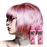 2x Crazy Color Semi-Permanente Haarfarbe 100ml (Candy Floss Pink - Rosa)