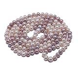 a2de0bb6d217 JYX Collar Largo de Perlas cultivadas en Agua Dulce de 8 a 9 mm