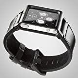 Minimal LLBLK-017 Chicago Collection LunaTik Lederarmband für Apple iPod nano 6G schwarz