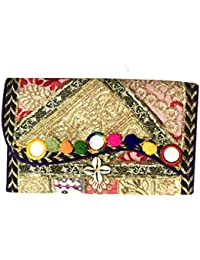 Shubhangi Women's Shoulder Sling Bag (Jaipuri Embroidered Handicraft Traditional Bags,Stylish Wedding And Festive...