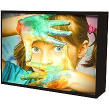 CCRETROILUMINADOS Portaretratos Iluminados, Metacrilato, Negro, 15x5.3x20 cm