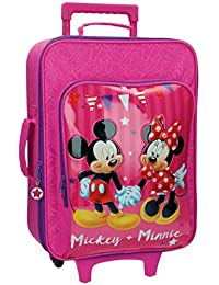Disney Mickey & Minnie Party Equipaje Infantil, 33.12 Litros, Color Rosa