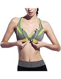 Grigio Amazon Sportivo Abbigliamento Intimo Reggiseni it Sportivi UUFgCq5