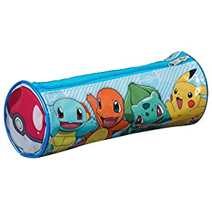 Pokèmon pok1 – 6045 «Pikachu/Charmander/Squirtle y Bulbasaur Barrel Pencil Case