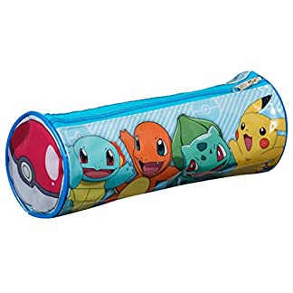 Pokèmon pok1–6045«Pikachu/Charmander/Squirtle y Bulbasaur Barrel Pencil Case
